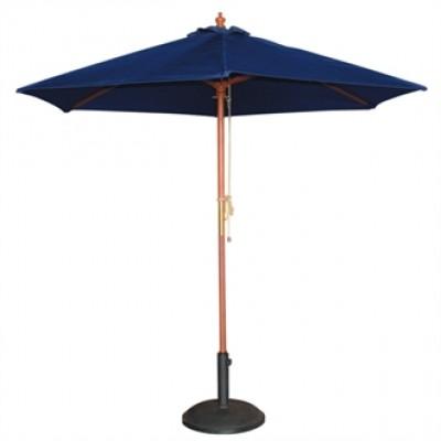 Round Blue 2.5m Parasol