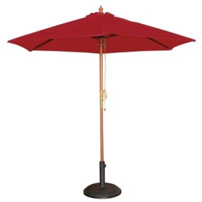 Round Red 2.5m Parasol