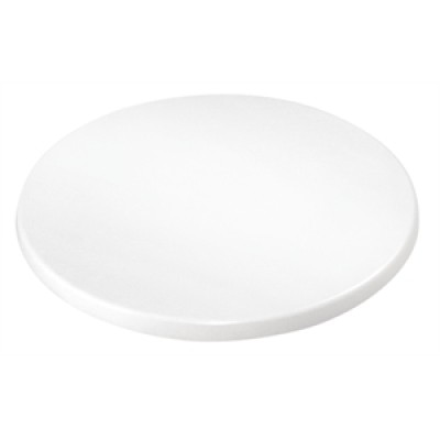 White Laminate Round Table Top (Pre-drilled)