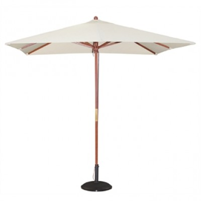 Square Pulley Parasol 2.5m Wide - Cream