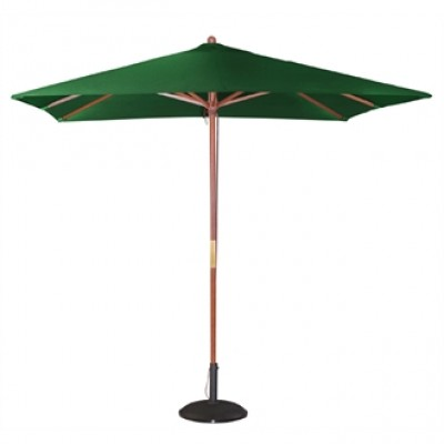 Square Double Pulley Parasol 2.5m Wide - Green