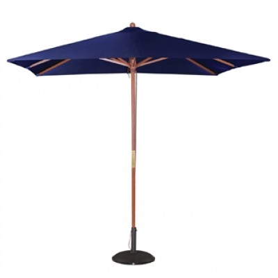 Square Double Pulley Parasol 2.5m Wide - Navy Blue