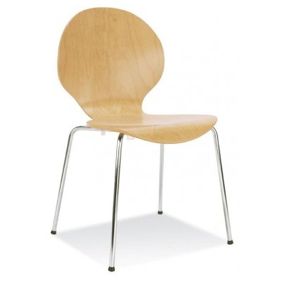 Beech Curved Stacking Cafe Chair