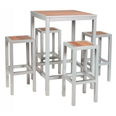 High Bar Table with 4 Stools