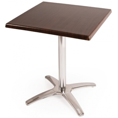 Square Dark Brown Table Combo