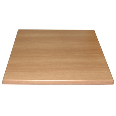 Beech Effect Square Laminate Top (Pre-drilled)