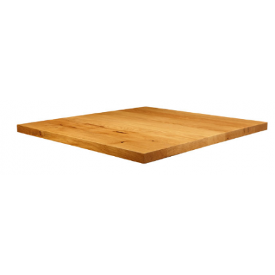 Solid Natural Laquered Character Oak Square Top