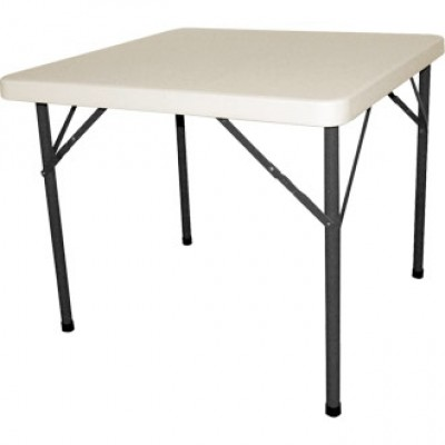 White Foldaway Square Table