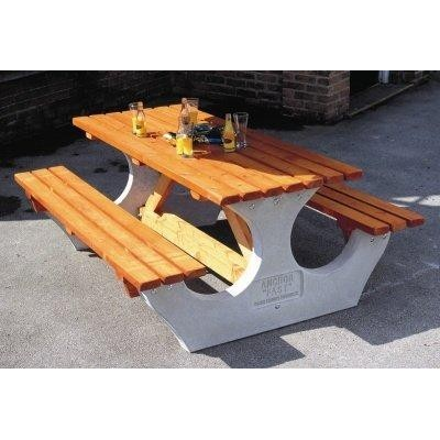 8 Seater Timber and Concrete Picnic Table