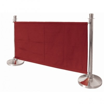 Red Canvas Barrier 1430mm Wide