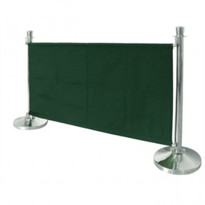 Green Canvas Barrier 1430mm Wide