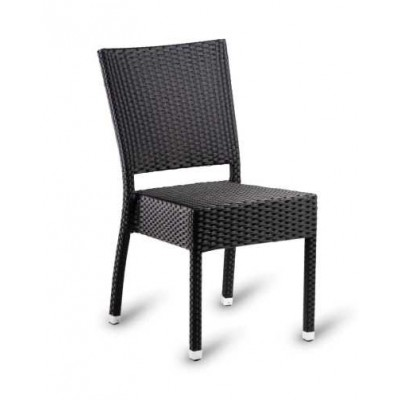 Tento Black Weave Outdoor Restaurant Chair
