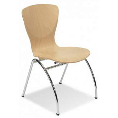 Polo Beech Stacking Cafe Chair