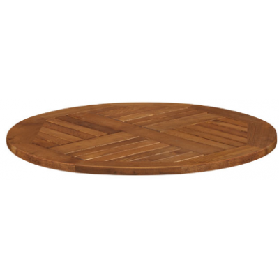 Solid Robinia Wood Round Top