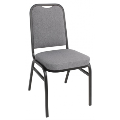 Steel Banqueting Chair with Grey Plain Cloth