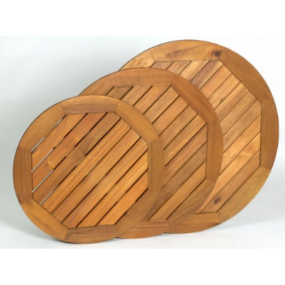 Acacia Wood Round Outdoor Top