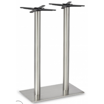 Twin Stainless Steel Poseur Base