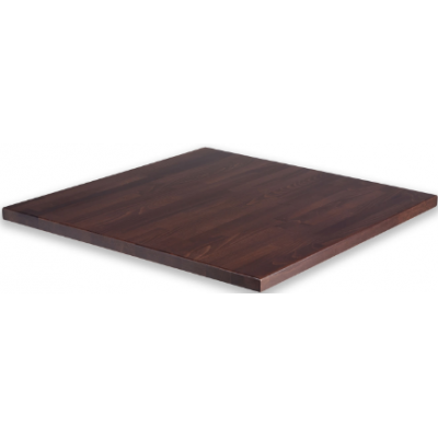 Solid Wood Walnut Stained Square Top