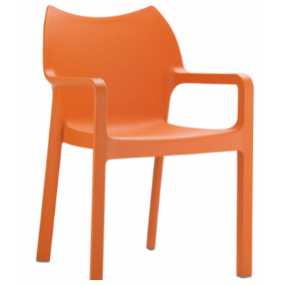 Emily Coloured Plastic Cafe Chair