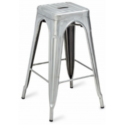 Valencia Tolix Inspired Galvanised Steel High Stool