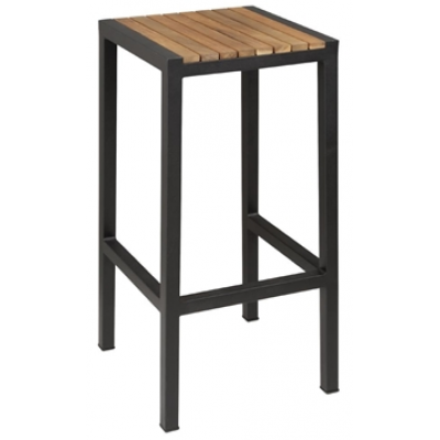 Jackie Steel and Acacia Outdoor Bar Stool