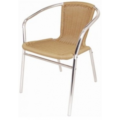 Cheltenham Beige Wicker Outdoor Cafe Chair