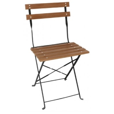 Coventry Faux Wood Folding Outdoor Cafe Chair