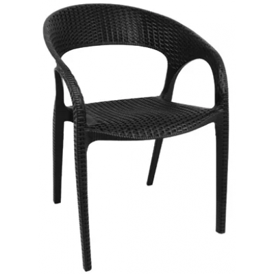 Ellerton Black Weave Effect Cafe Chair