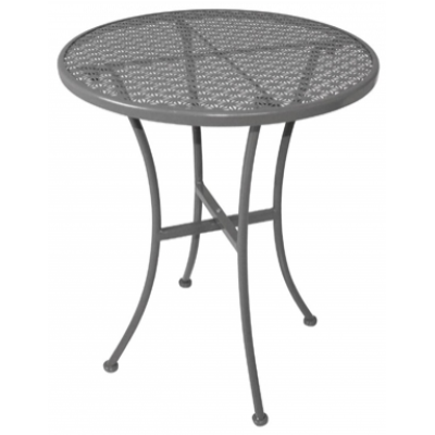 Filey Outdoor Steel Patterned Round Bistro Table