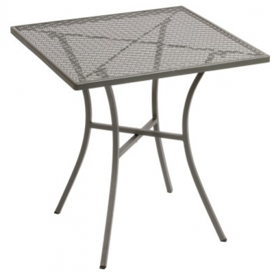 Filey Outdoor Steel Patterned Square Bistro Table