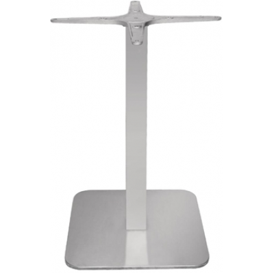 Oxford Indoor or Outdoor Square Stainless Steel Table Base