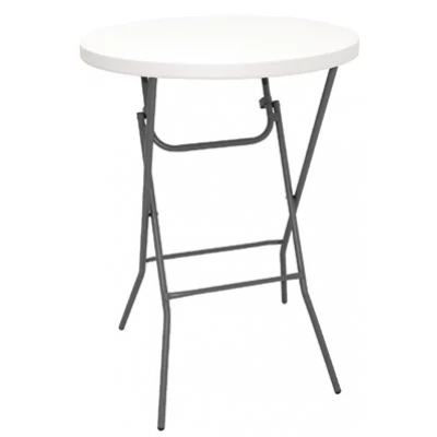 Huntington White Foldaway Outdoor Poseur Table