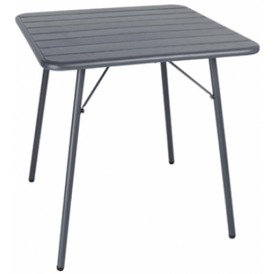 Rothbury Slatted Square Folding Outdoor Steel Table