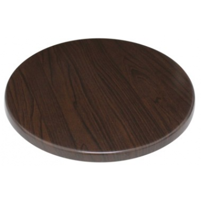 Walnut Round Laminate Top  (Pre-Drilled)