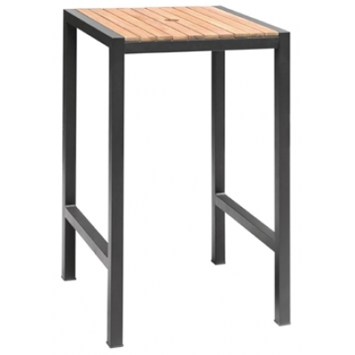 Jackie Steel and Acacia Outdoor Bar Table