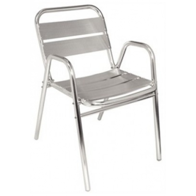 York Aluminium Stacking Chair