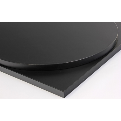 Round Black Laminate Top
