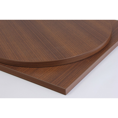 Round Walnut Laminate Top