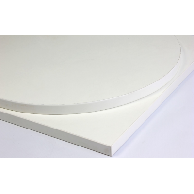 Round White Laminate Top
