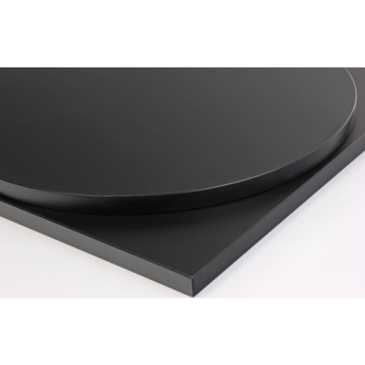 Rectangular Black Laminate Top