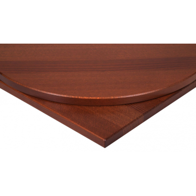Solid wood round walnut table top