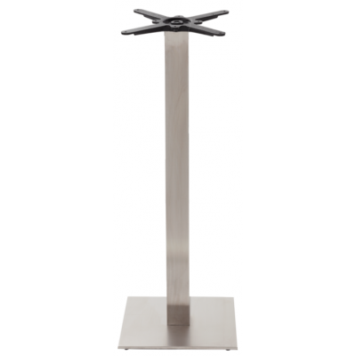 Stainless Steel Square Poseur Table Base