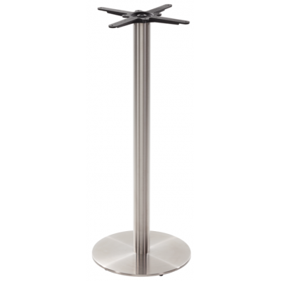 Stainless Steel Round Poseur Table Base