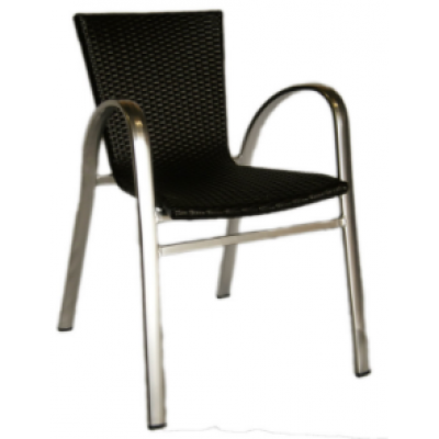 Brisbane Outdoor Brown Wicker Cafe Armchair