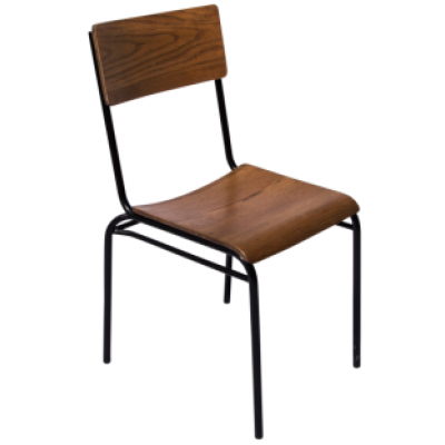 Titus Oak Stacking School Style Chair