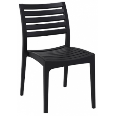 Amelia Indoor or Outdoor Black Cafe Chair