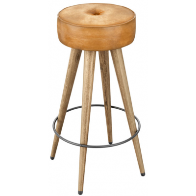 Pineapple Vintage Style Upholstered High Stool