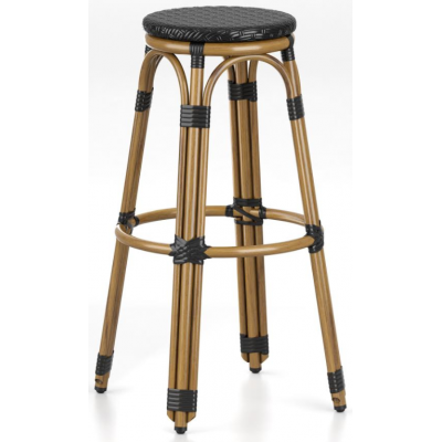 Clock Outdoor Restaurant High Bar Stool