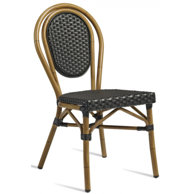 Clock Outdoor Bamboo Effect Chair