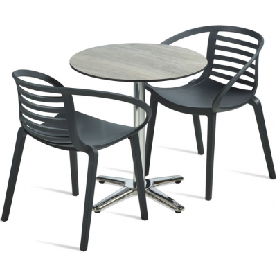Curved Outdoor Cafe Set